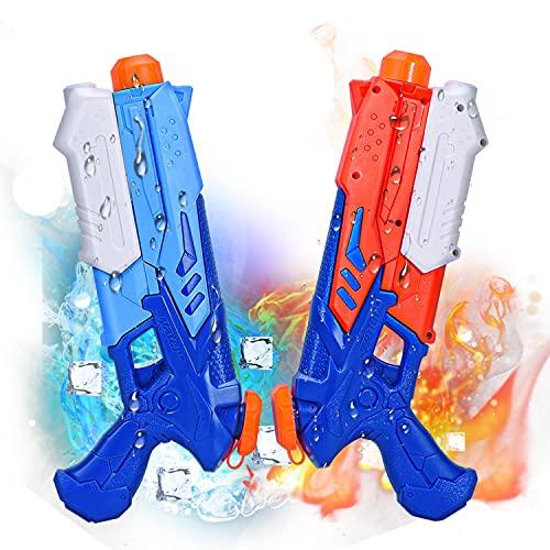 Joyjoz 2 Pack Pistolas de Agua 400ML Pistola Blaster de Agua para Verano Piscina Al Aire Libre Playa Diversión Acuática para Niños Adultos
