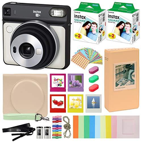 Fujifilm Instax Square SQ6 - Cámara instantánea con funda de transporte + Fuji Instax Film Value Pack (40 hojas) paquete de...