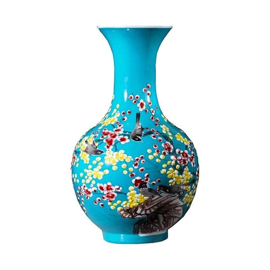 オーナメント連隊ペンフレンドPusaman 陶器、中国の家庭のリビングルームの装飾工芸品、手描きの磁器の花瓶景徳鎮セラミック装飾品、青