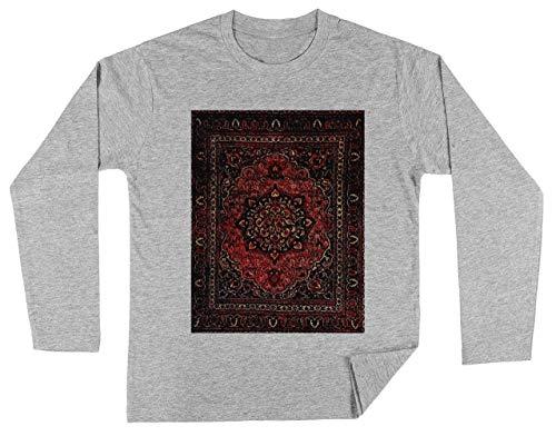 Perzisch Tapijt Kijken In Roos Unisex Kinder Jongens Meisjes Lange Mouwen T-shirt Grijs Unisex Kids Boys Girls's Long Sleeves T-Shirt Grey