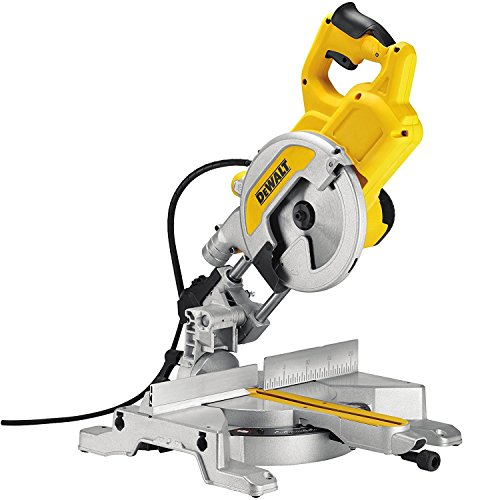 Dewalt DEWDWS777 DWS777 216mm XPS Crosscut Mitre Saw 1600 Watt 240 Volt, 240 V, Black/Yellow