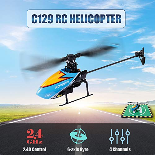 Goolsky C129 RC Hubschrauber 4CH Mini Querruderhubschrauber 6-Achsen Gyro Fernbedienungshubschrauber RC Flugzeug für Erwachsene Kinder