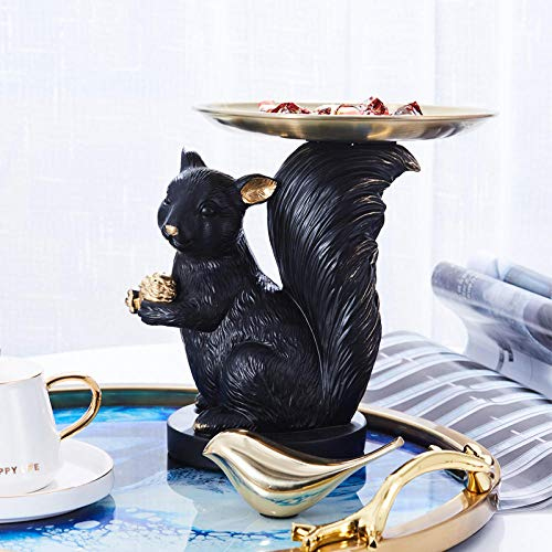 WPXBF Figurine Animal Statue Ornaments Modern Dog Squirrel Monkey Tray Home Decoration Living Room Fruit Plate Door Key Storage Coffee Table Snack Candy Tray