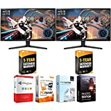 LG 32GK650F-B Dual 32-inch Class QHD Gaming Monitor with FreeSync Bundle with Elite Suite 17 Standard Software Bundle and 1 Year Extended Warranty