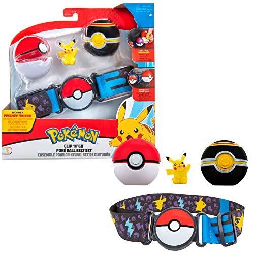 Bandai  Pokmon  1 cinturn Clip 'N' Go  1 Bola de Lujo, 1 Bola y 1 Figura de 5 cm Pikachu  Accesorio para disfrazarse en Dressor Pokmon  WT0080