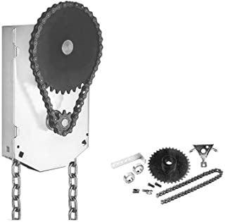 Garage Door Chain Hoist 4:1 Reduction Jack Shaft Mounted (1 Inch Shaft)