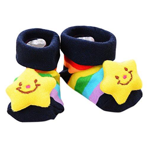 Karrychen Calcetines de bebé Antideslizantes de algodón para recién Nacidos Zapatillas de Animales de Dibujos Animados para bebés Unisex- 1#