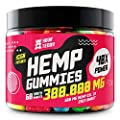 Hemp Gummies for Pain, Anxiety, Sleep, Stress Relief - 300000 MG - High Potency - Premium Hemp Extract - 100% Organic, Natural Candy Gummy Bears with Hemp Oil - Rich in Vitamins B, E & Omega 3, 6, 9
