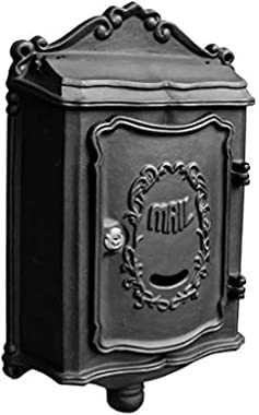 Mailboxes for Outside Lockable,Mailboxes for Outside Wall-Mounted Locked Mailbox Decorative Outdoor Mailbox Galvanized Sheet Material 2 Colors-Black