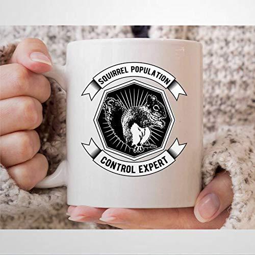 Taza de café con diseño de ardilla C-ontrol Expert de Caza de ardilla para cazadores, regalos de caza, para hombres, ardilla, tiro, taza de té, taza de 12 onzas