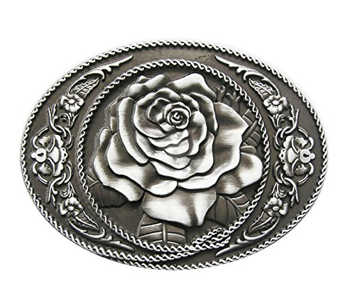 Fibbia 123 per cintura Western Rose Cowboy fiore 3D per cintura di ricambio cintura fibbia fibbia modello 171