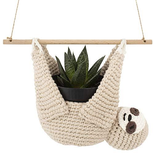 Encike Home Decor Sloth Plant Hanger for Succulent Pot or Air Plants  ...