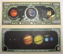 Set of 10 Bills-Solar System Million Dollar Bill