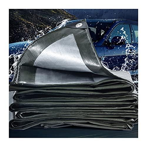XXIOJUN Lona Resistente Al Agua Resistente, con Cubierta De Camión con Ojales, Tienda De Campaña Resistente Al Desgarro Lona Impermeable Resistente A Los Rayos UV (Color : Green, Size : 6x6m)