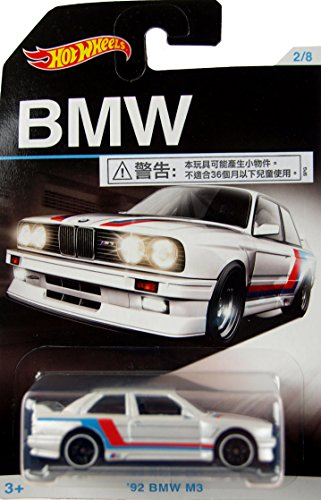 HOT WHEELS EXCLUSIVE BMW SERIES WHITE '92 BMW M3 2/8