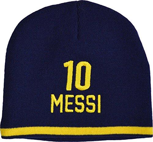 FC Barcelona Mütze Lionel Messi, offizielle Kollektion, Kindergröße für Jungen.
