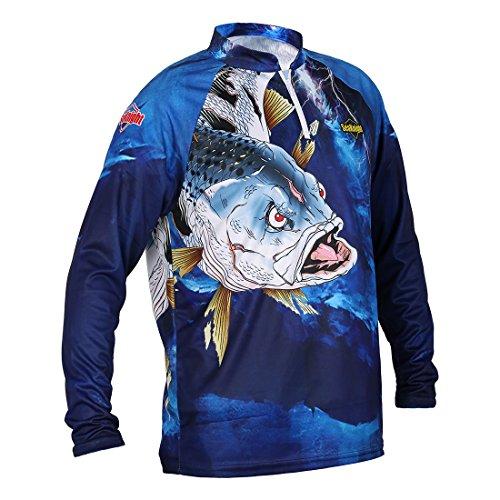 SeaKnight SK004 Camiseta de pesca de secado rápido, transpirable, antiUV, manga larga, protección solar