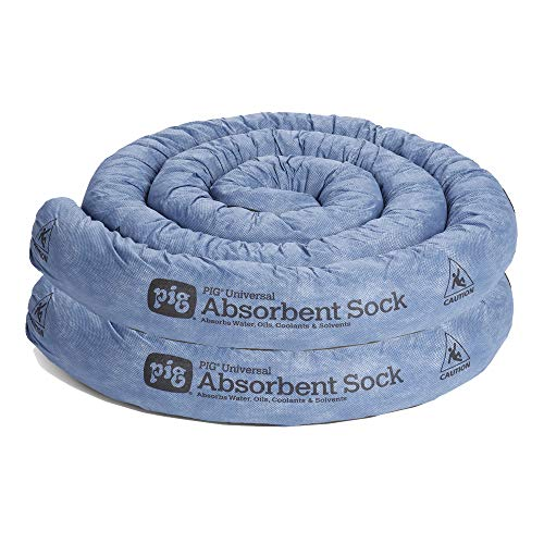 New Pig 10' L Mildew-Resistant Absorbent Sock | Water Absorbing Barrier | Reusable up to 3 Times | 3