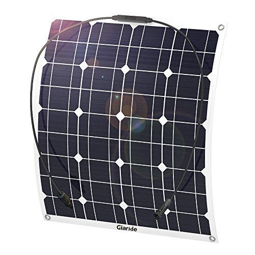 GIARIDE 50W 18V 12V Solar Panel Monocrystalline Cell Flexible Bendable...