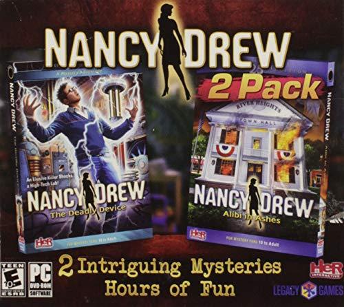 Nancy Drew - Alibi in Ashes & The Deadly Device 2-Pack (PC-DVD) (XP, VISTA, Windows 7, Windows 8) PC Detective Game