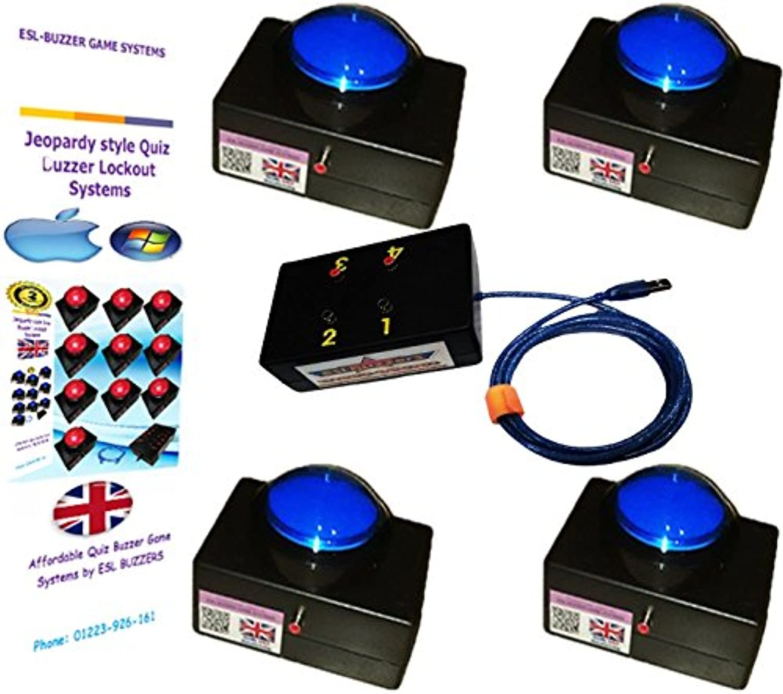 4 Player Buzzer System. (Mac & Windows Compatible)