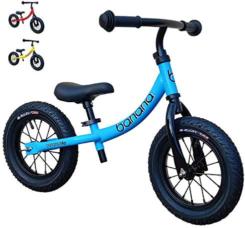 Banana GT Balance Bike 12 Alloy Wheels Air Tires for Girls and Boys 2 3 4 5 Year Olds product image