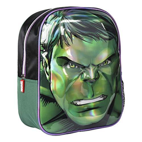 Artesania Cerda Mochila Infantil 3D Avengers Hulk Kinder-Rucksack, 31 cm, Grün (Verde)