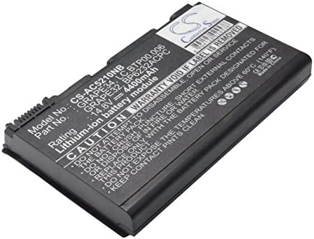 Be super welcome 4400mAh 14.8V Battery Replacement for Excellent TravelMate Acer 5720-6462