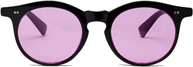 Bestum Vintage Inspired Round Sunglasses With Rivets Tinted Lens UV400