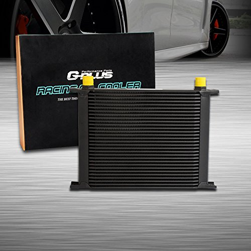 30 Row AN10-10AN Universal Engine Transmission Aluminum Oil Cooler Black