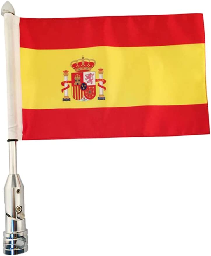 Homyl Ranking TOP19 Spain Flag Rear New Free Shipping Side Mount Sportster Pole for Rack Luggage