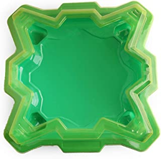 Green Gyro Arena, Gyro Disk Exciting Duel Spinning Top Launcher Stadium for Burst Spinning Top Children Birthday Gifts