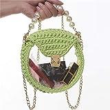 Lihuzmd DIY Selbstgemachte Umhängetasche,Handtasche Transparente Acryl DIY Damen Handgewebte Tasche...