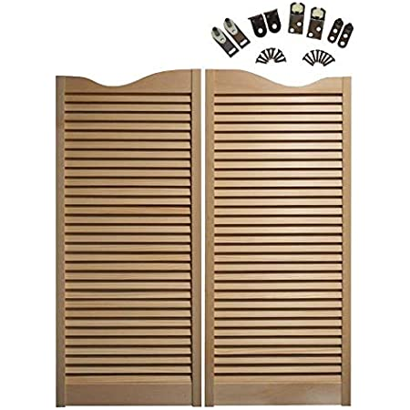 Hinges Included Prefit for 36 Finished Opening Width Cafe Doors by Cafe Doors Emporium Alder Wood Cafe Doors Louvered Saloon Western Bar Pub Unfinished Hardwood from Managed Forestry