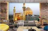 Pwmunf 3D Wallpaper Custom Photo The Imam Ali Mosque in The City Decorative Painting Room Wallpaper for Walls 3D Wall Murals Wallpaper 280X200Cm