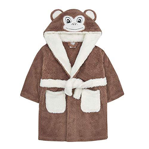 Accappatoio Baby Mouse Panda Duck con cappuccio Face Detail 6-12 12-18 18-24 scimmia 6-12 Mesi