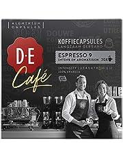 Douwe Egberts D.E Café Espresso 9 Koffiecups, (200 Lungo Koffie Capsules, Geschikt Voor Nespresso Koffiemachines, Intensiteit 09/12, 100% Arabica Koffie), 10 X 20 Capsules, 1Kg