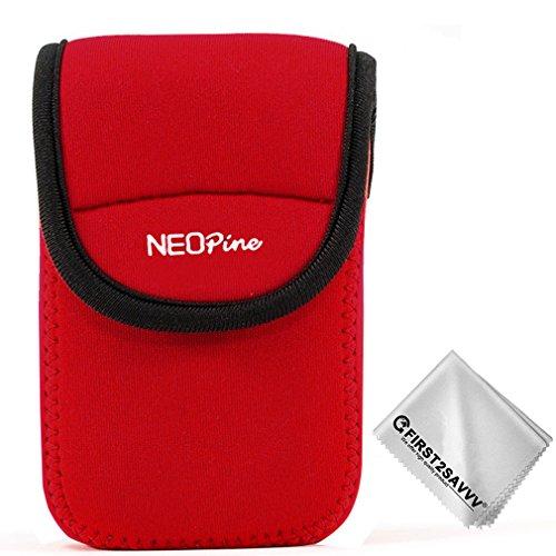 Rojo Funda Cámara Reflex Neopreno Protectora para Fujifilm XF10 X70 Panasonic Lumix DMC-ZS200 TZ200 ZS110 ZS100 DC-ZS70 ZS60 ZS50 DC-TZ90 TZ80 QSL-U1-Lumix-B08G11