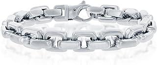 "Men's 10.5mm Matte Anchor 8.5"" Link Bracelet Stainless Steel Jewelry for Men"