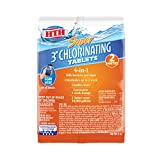 HTH 42032 Super 3-inch Chlorinating Tablets Swimming Pool Sanitizer, 6 oz