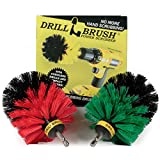 Drill Brush Power Scrubber - Kitchen Cleaning - Dish Brush - Pots and Pans - Cast Iron Cookware - Tile and Grout Brush - Outdoor Cleaning - Stiff Bristle Patio and Deck Brush - Concrete Bird Baths