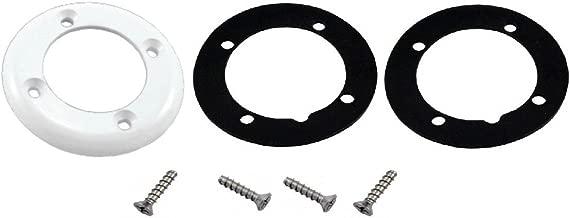 Custom Molded Products Vinyl Pool Return Faceplate 2Gskt, 4 Screws, White #25545-100-000