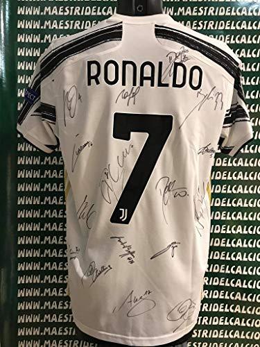 """MAESTRI DEL CALCIO Maglia Ufficiale Champions League """"Ronaldo 7"""" CR7 Autografata 2020/2021 Firmata Firme Giocatori"""