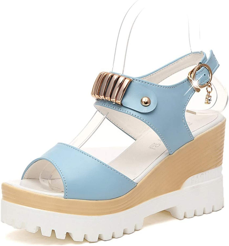 Women Sandals Summer Fashion Thick Platform Open Toe Casual Wedges Sandal Female High Heels Outdoor Sandal
