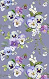 Notebook: Floral Purple Pansy Flowers (Small 5x8, College Ruled)