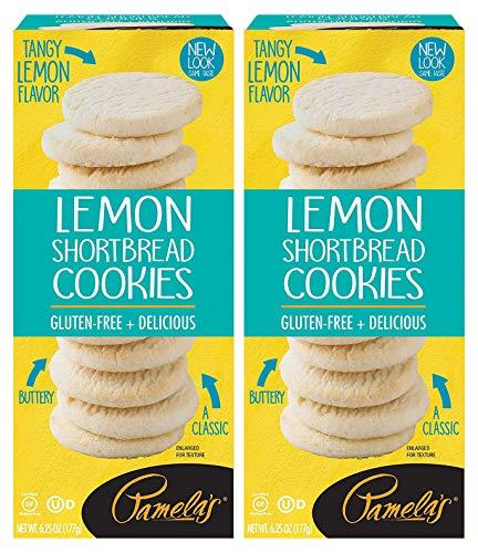 Pamela s Lemon Shortbread Traditional Cookies, 6.25 OZ, Pack of 2