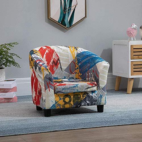 Conjunto de sillas de sofá para niños, sofá de cuero PU con cojín, silla de sofá infantil, sillón de sofá con cojín,Single Sofa