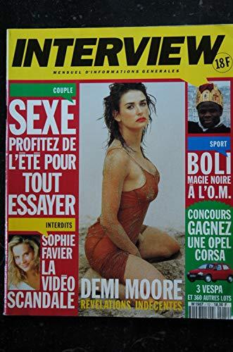 INTERVIEW 12 1993 Juillet DEMI MOORE SOPHIE FAVIER BOLI Mimi MATHY WOLINSKI MITCHELL COLUCHE MC SOLAAR