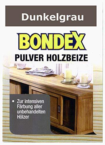 Bondex Holzbeize Pulverbeize Beutelbeize Beize auf Wasserbasis für Möbel 5er Pack - dunkelgrau
