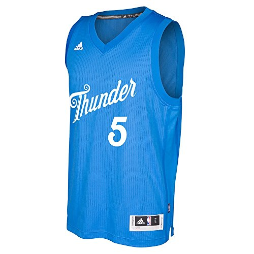 adidas Victor Oladipo Oklahoma City Thunder NBA Uomo Blu 2016Christmas Day Swingman Climacool Maglia, Uomo, Blue